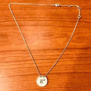 New Silver E necklace